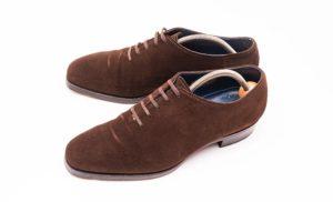 セントラル靴買取ホールカットブラウンスエードchushu