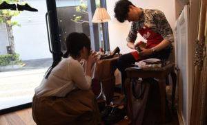 革靴専門店LASTYLEの革靴磨き会